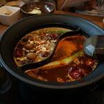 しゃぶしゃぶ温野菜 - 薬膳香鍋と蒙古炎鍋