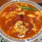 30106680 - 【2014年05月】自家製刀削麺(トマトと卵のピリ辛味)のアップ。