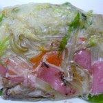 蘇州林 飲茶・ちゃんぽん店 - これが冷凍具材です。色々な具材が入っていそうですね。