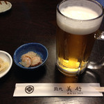 鮨処美好 - 先ずは生ビール