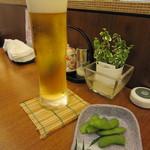 日本料理 桜ばし - 生ビール♪