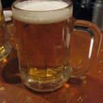 壱番亭やきとりKING - 生ビールはキリンラガー