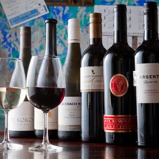 魚介と白ワインが豊富です!