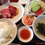 ふじもと焼肉 - 焼肉定食1,300円