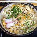 まつのや - 「稲庭卵とじにゅうめん(大盛)」600円