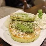 cafe 町子 - 抹茶パンケーキ