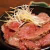 備長炭焼肉としゃぶしゃぶ 仔虎 - 料理写真:和風ローストビーフ丼(ハーフ)