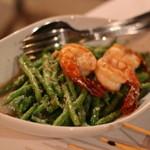 Bijan - 料理写真:大ヒット!  Kacang Buncis Goren Udang  インゲンを海老ペーストで味付けしてあって最奥に美味しい   15RM