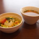 30144941 - サラダとスープ