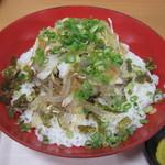 壇之浦パーキングエリア スナックコーナー - メインの「ふくぶっかけ丼」です。