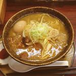 麺組 - 味噌らーめん 800円 味付き煮玉子 110円