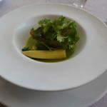 30146397 - 鮮魚のポワレ セロリとレモンの冷たいソース
