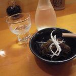 たちばな - 日本酒とお通し(もずく酢)