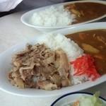 30152981 - 合いがけ(牛丼&カレー)800円