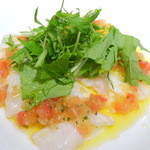 BIANCA - 水タコのカルパッチョ 柚子胡椒風味