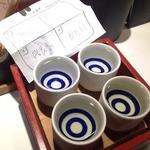 酒の穴 鳥心 - 四銘柄ききくらべ(約1.5合)