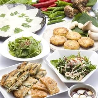 旬の野菜をたっぷり使った韓国料理
