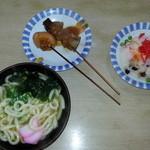 30164183 - かけ小、おでん(卵、すじ)、ばら寿司