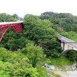 レストハウスうしお - あまちゃんでもおなじみ三陸鉄道・大沢橋梁が見えます