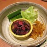 Uotami - 本日のお漬物盛合せ 366円