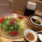 横濱 蒸籠 - 冷やし坦々麺セット1080円