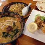 めん勝 - 坦々麺&チャーハン&唐揚げ