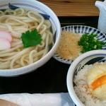 福乃屋 - かけうどん380円+半熟卵天ごはん250円