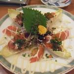 30183543 - タルタル人のお魚料理(1000円)まぐろのタルタルが沢山入ってます!