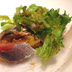 30186128 - イワシと焼きナスのサラダ バーニャカウダーソース添え