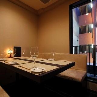 接待・商談、デート・記念日に最適な完全個室のプライベート空間