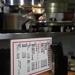 維新商店 - カウンター越しの厨房