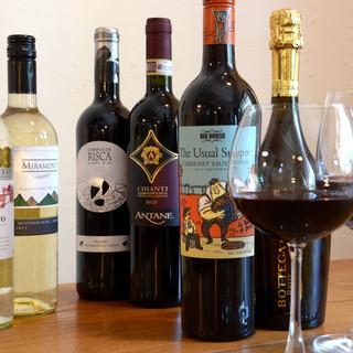 各国のワイン常時約10種