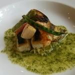 四季彩 MOCCO - 白身魚と海老と帆立貝のソテー~バジル風味~(lunch)H26.8