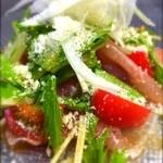 ONSA - 生ハムとトマトのカルパッチョ