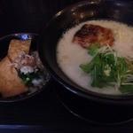ちょんまげ食堂 ラーメン部 - 鶏パイタン塩らーめん(680円)+あっさりきつねごはん(100円)