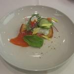 アクアヴィット - ノルウェーサーモンとシュリンプのトーストスカーゲン ブリオッシュとタルタルソース