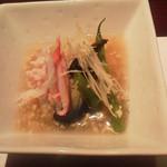 道頓堀つぼみ - 夏野菜の蟹葛仕立て