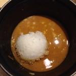 麺や高倉二条 - カレーつけ麺 (〆御飯)