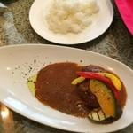 romantic diner loco - 「おすすめランチセット」。メインは「特製ハンバーグ グリル野菜添え」に。ライスを選択できます