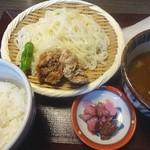 万さく - 料理写真:カレーざるうどんセット(980円)