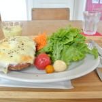 カフェ アンシャンテ - 料理写真:クロックムッシュプレート