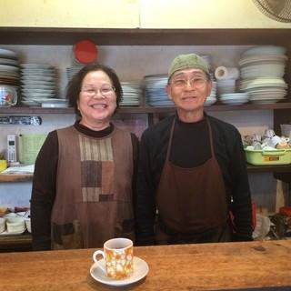 ラーメン角萬 - ご夫婦で、数十年(*^_^*)  食後のコーヒーサービスまでいただきました!  写真許諾済み