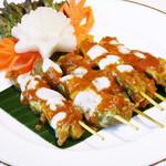 鶏肉の串焼き、ピーナッツソース ガイ・サテー 1P