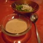 サンセール - コンソメゼリーとコーンとじゃが芋の冷製スープ♪このスープ美味しかった(*≧▽≦*)