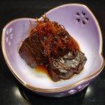 鶴生館 - 鮪の角煮