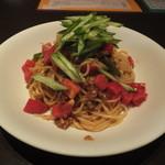 欧風酒場ナベ - トマト坦々スパゲティ