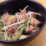 きりん - ひね鶏のガーリック炒め