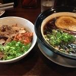 金久右衛門 本店 - 大阪ブラック細麺(720円)B豚丼セット(460円)