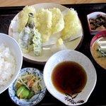 永田ドライブイン - いか天ぷら定食!(2014,08/24)