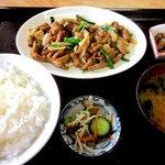 永田ドライブイン - ホルモン焼定食!(2014,08/24)